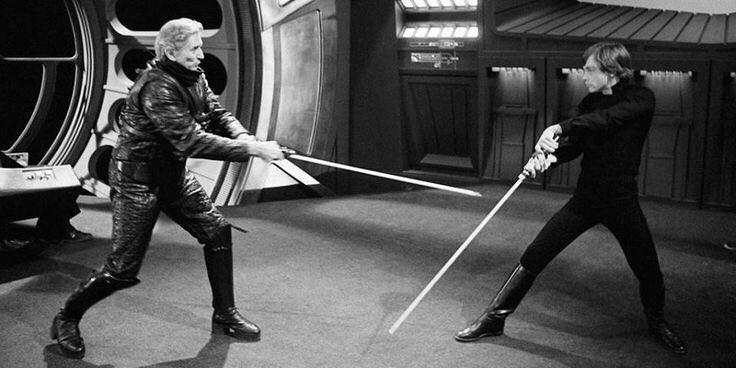 《星際大戰》電影中鮑勃安德森、馬克漢米爾的劍擊畫面。