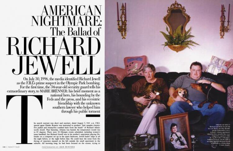 1997 年《浮華世界》刊登的報導《美國噩夢:李察朱威爾的悲歌》是克林伊斯威特導演電影《李察朱威爾事件》主要的參考資料。