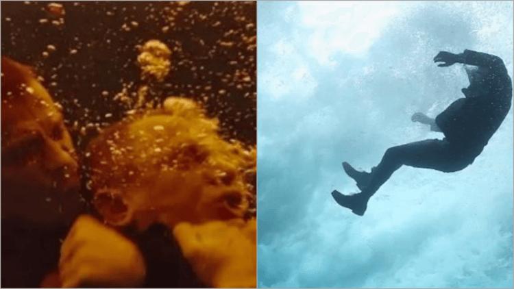 《007:空降危機》裡龐德泡了好多次水。