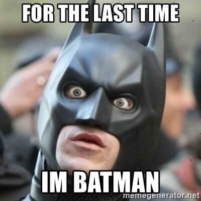 《蝙蝠俠》的迷因。