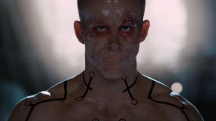 《X 戰警:金鋼狼》電影中的死侍劇照。