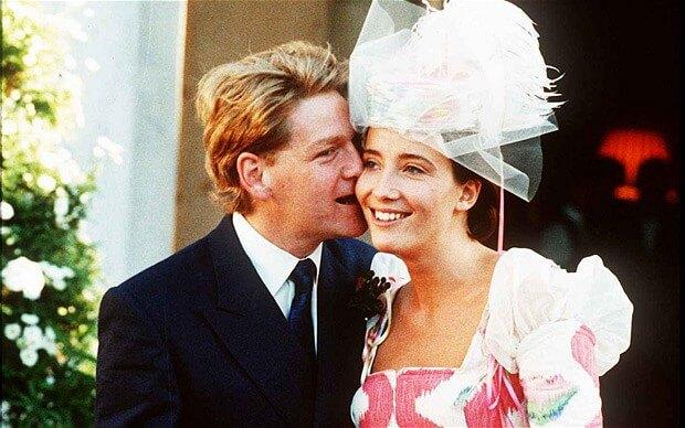 艾瑪湯普遜和肯尼斯布萊納的婚禮。