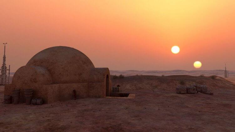 《星際大戰》系列故事中,天行者家族的故鄉行星塔圖因。