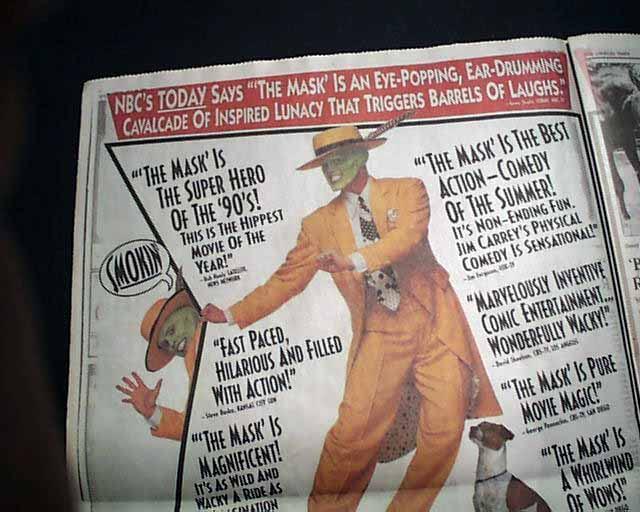 《摩登大聖》上映當時的報紙廣告。