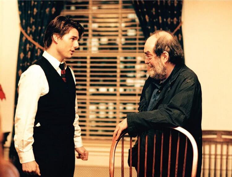 《大開眼戒》導演庫柏力克與主演湯姆克魯斯。