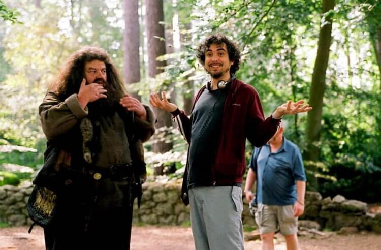 《哈利波特:阿茲卡班的逃犯》導演艾方索柯朗(右)。
