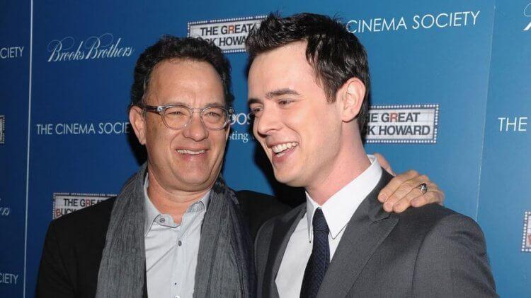 湯姆漢克斯與兒子柯林漢克斯。