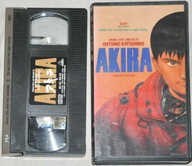 《阿基拉》VHS 影帶。