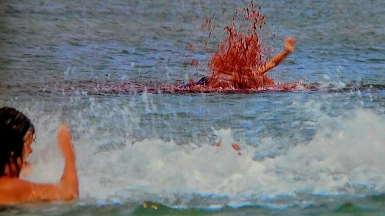 《大白鯊》電影劇照。