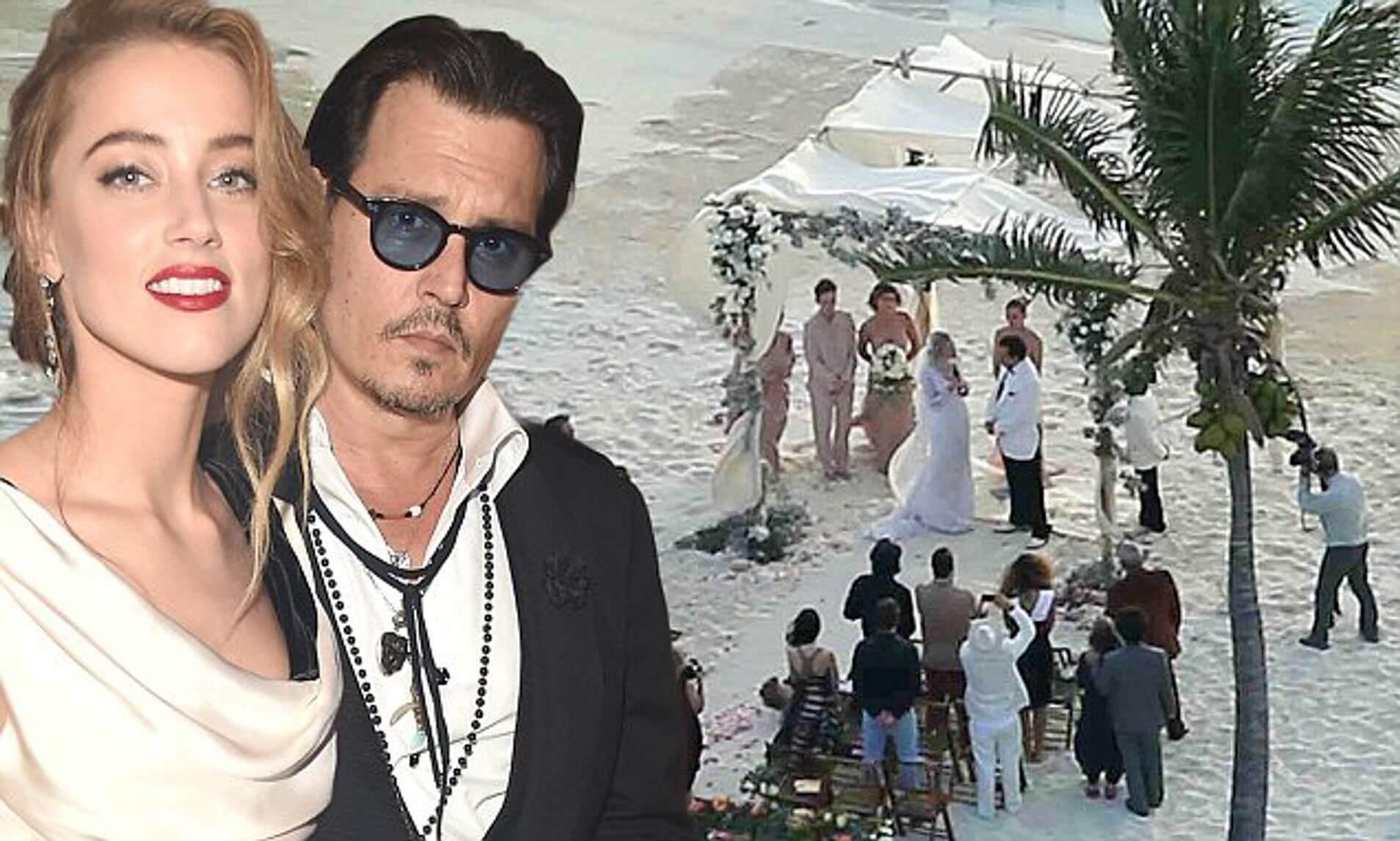 2015 年初戴普與赫德在巴拿馬小島成婚。