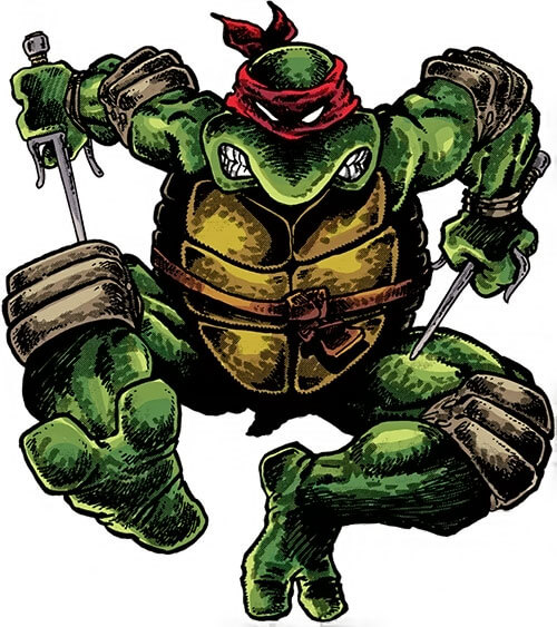 《忍者龜》漫畫裡的拉斐爾。