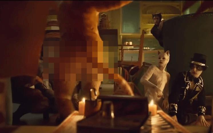 《貓》在幕後處理過程驚覺肛門居然被畫上去了。