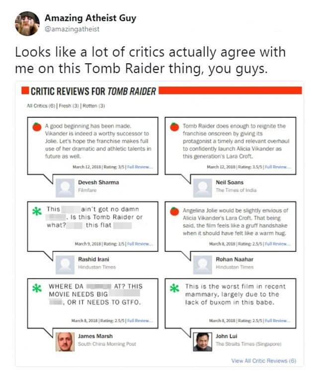 這則評論已經刪除,但這樣的評論不只一則。