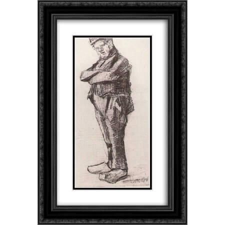 梵谷的鉛筆素描《叉手站著的男人》。