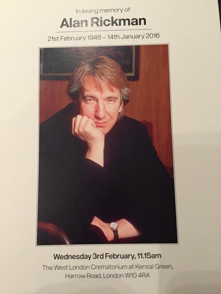 艾倫瑞克曼於 2016 年因胰臟癌逝世。