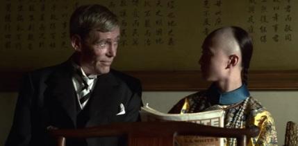 《末代皇帝》彼得奧圖飾演溥儀的導師莊士敦。
