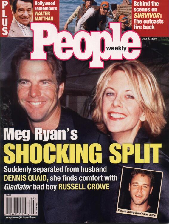 梅格萊恩的緋聞上了當年娛樂新聞頭條。