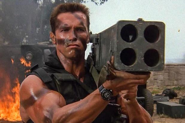 《魔鬼司令》阿諾的選角相當成功,浮誇的肌肉成功說服觀眾他能憑一己之力單挑整團恐怖份子。