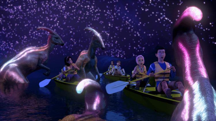 《侏羅紀世界:白堊冒險營》影集劇照。