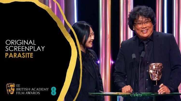 奉俊昊力作《寄生上流》獲得最佳原創劇本。
