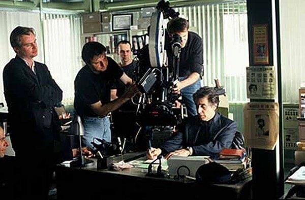 《針鋒相對》片場的諾蘭。