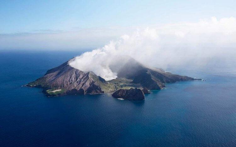 紐西蘭的活火山懷特島。