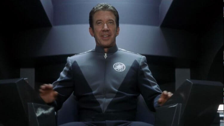 提姆艾倫讓電影《驚爆銀河系》片中這位好大喜功的艦長更有說服力。