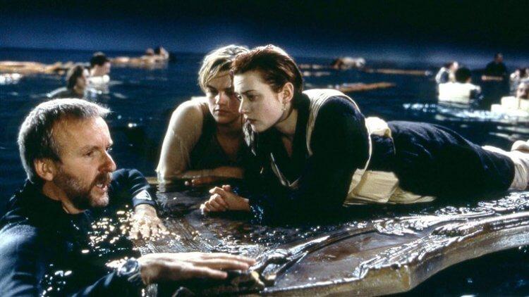 《鐵達尼號》在棚內大型水槽拍攝結尾戲。