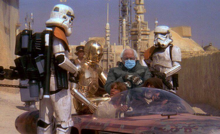 《星際大戰》:伯尼桑德斯梗圖。