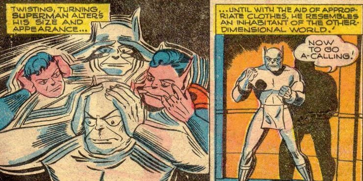 漫畫還曾經設定,氪星人可以隨意變形肢體(跟史萊姆沒兩樣)。