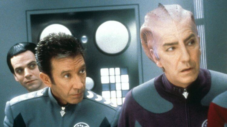 提姆艾倫與艾倫瑞克曼在演完電影《驚爆銀河系》之後,仍然維持友誼。