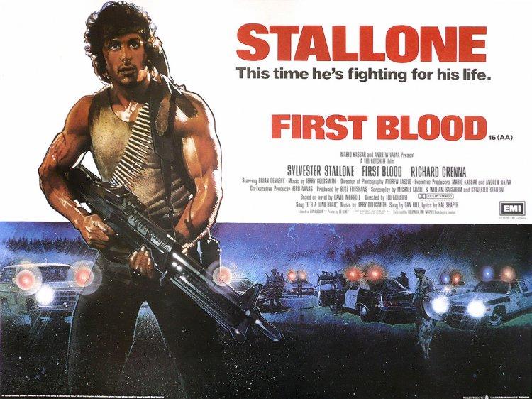 改編自同名小說,1982 年席維斯史特龍主演「藍波」的電影《第一滴血》。