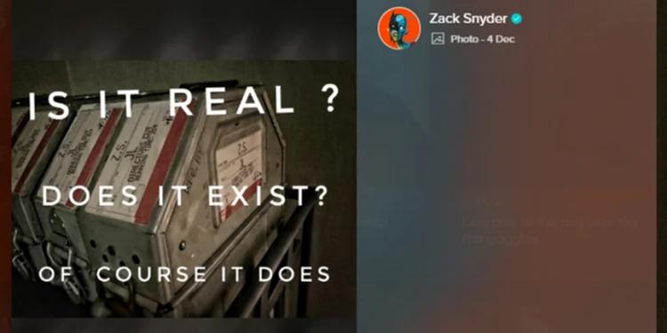 查克史奈德 (Zack Snyder) 在ig上證實《正義聯盟》(Justice League) 的確有他所剪輯的版本。