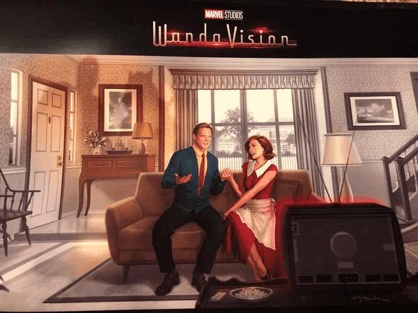 《汪達與幻視》首張美術概念圖充滿著 50 年代的情境喜劇風格。