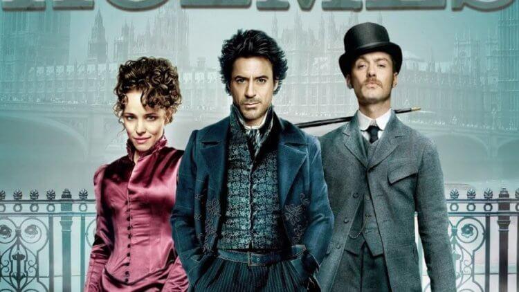 2009 年由小勞勃道尼與裘德洛等人合演的《福爾摩斯》(Sherlock Holmes)。