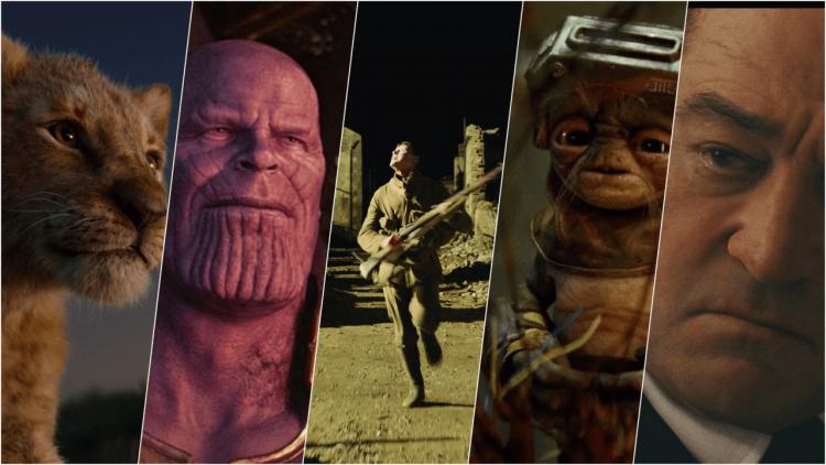 數位獅子、年輕狄尼洛、搞笑工匠與一大團超英雄:為什麼這些電影有資格入圍 2020 年奧斯卡最佳視覺特效獎?首圖
