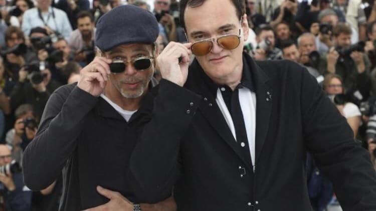 《從前,有個好萊塢》的主演布萊德彼特以及導演昆汀塔倫提諾。