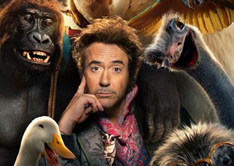 小勞勃道尼 (Robert Downey Jr.) 與他的「動物版復仇者聯盟」:2020 年 1 月電影《杜立德》。