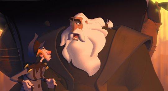動畫電影《克勞斯:聖誕節的秘密》劇照。