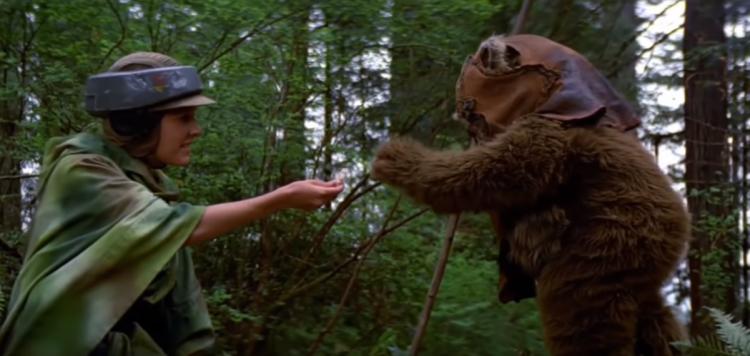 伊娃族 (Ewok) 與莉亞公主初相識