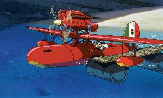 宮崎駿作品《紅豬》劇照。
