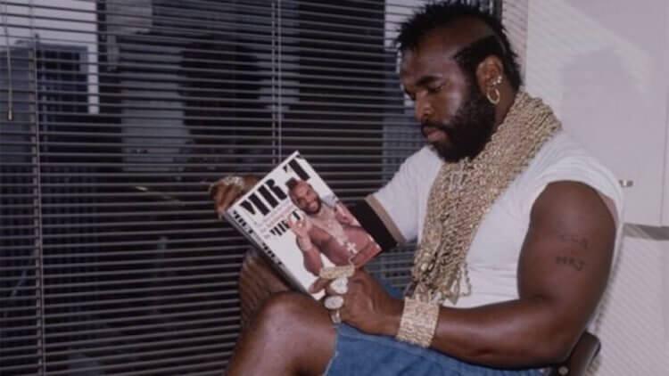 日後紅極一時的 Mr.T T 先生甚至還有自己的書,在他壯碩的硬漢外表下,有他成長過程累積下來的人生智慧。