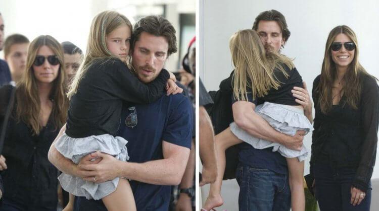 克里斯汀貝爾與女兒。