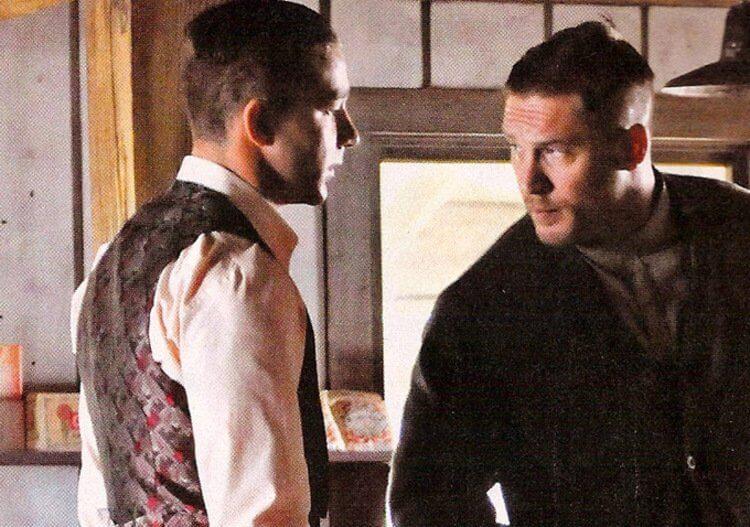 在 2012 年電影《野蠻正義》(Lawless) 中,西亞李畢福與湯姆哈迪兩位性格男星同框飆戲。