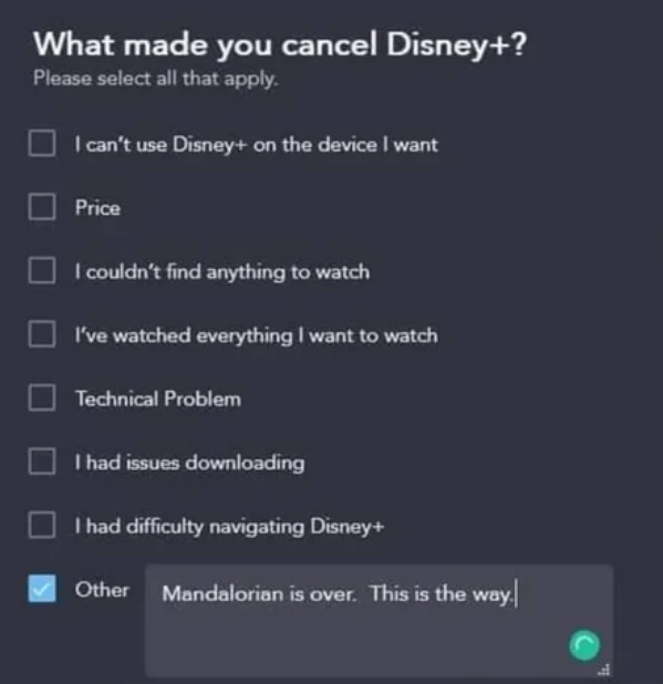 Disney+《曼達洛人》第一季結束後引來一波退訂潮。