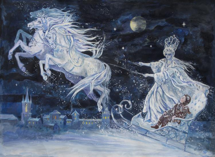 電影《冰雪奇緣》(Frozen) 參考自安徒生的《冰雪女王》(The Snow Queen),在原作中的冰雪女王實際上是邪惡反派。