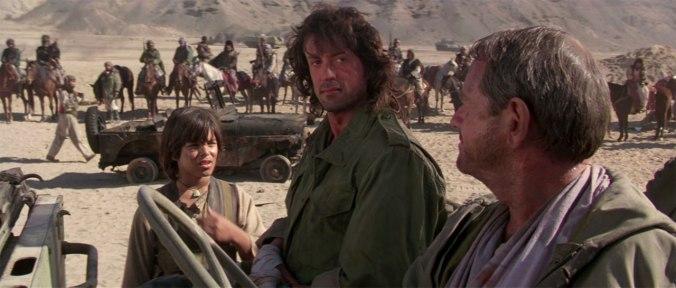 1988 年的藍波電影《第一滴血第三集》,連阿抗俄之後的藍波並未回到美國家鄉,後續 20 年人生堆疊出 2008 年續集電影《第一滴血 4》(Rambo)。