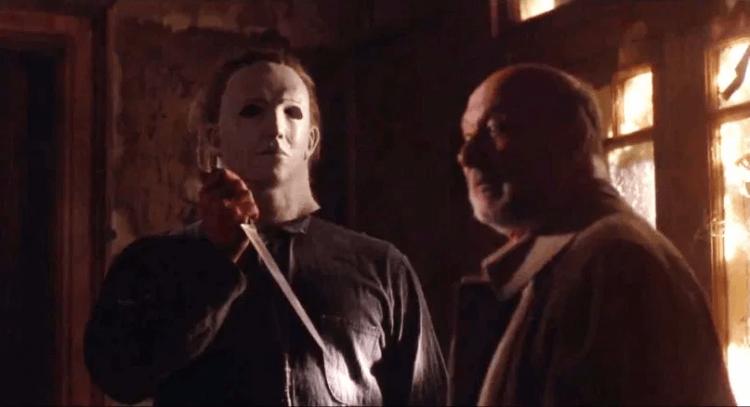 《月光光心慌慌 5:復仇夜》中麥克邁爾斯與他的心理醫生 Dr. Loomis。
