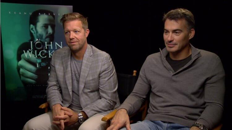一起參與製作《駭客任務》的「武打兄弟」大衛雷奇與查德史塔赫斯基。