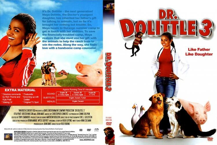 改編自童書,艾迪墨菲 1998 年電影《怪醫杜立德》大獲好評,2006 更推以女兒為主角的續集《怪醫杜立德 3》。
